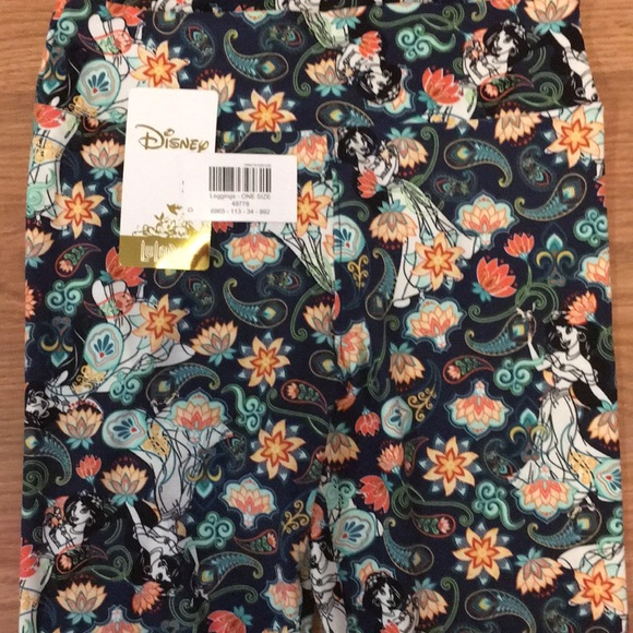 Lularoe Pants Disney Princess Jasmine Aladdin Leggings Poshmark