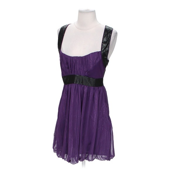 Walter Baker Dresses & Skirts - Walter Baker purple/black sequin Party dress Small