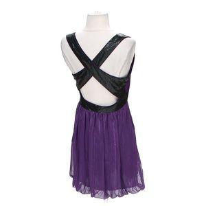 Walter Baker Dresses - Walter Baker purple/black sequin Party dress Small