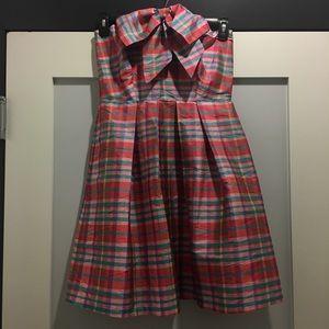 Eva Franco anthropologie Silk Plaid Party Dress 4