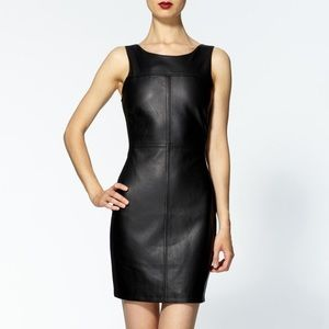 NWOT Sanctuary Vegan Leather & Ponte Dress