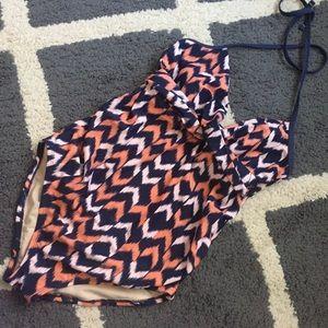 d52c6814863dc Liz Lange for Target Swim - Liz Lange Maternity chevron swimsuit sz M. Cute!