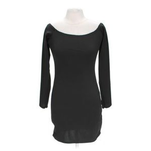 Missguided Rorry Bardot Bodycon Dress Black Sz 12