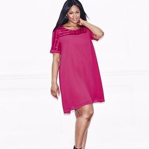 Simply Be Hot pink dress