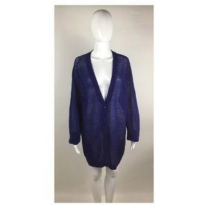 Land's End Blue Cardigan Sweater SZ 2X