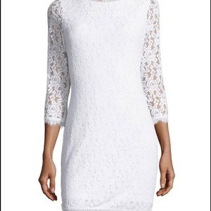 *NEW* DVF Colleen White Lace Dress Size 6