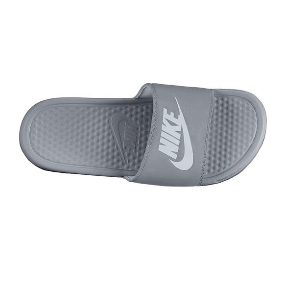 62eac761ba96 Gray Nike slides women s exclusive