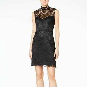 Betsy johnson lace black mini dress