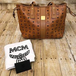 Authentic MCM Reversible Liz Medium Tote Bag