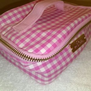 Lilly Pulitzer Pink/White Gingham make up case!