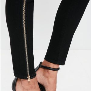 Missguided Jeans - Missguided Black Rebel high waisted skinny jeans 4