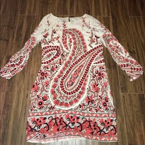 Old Navy Paisley 3/4 sleeve lined dress