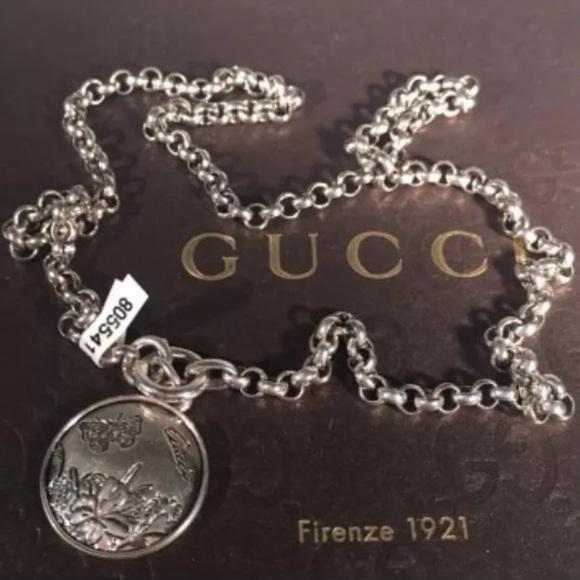 e15d0efb2 Gucci Jewelry | Silver Flora Necklace Pendant | Poshmark