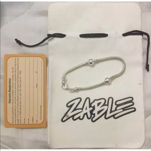 Zable Sterling Silver Snake 7.5 inches Bracelet