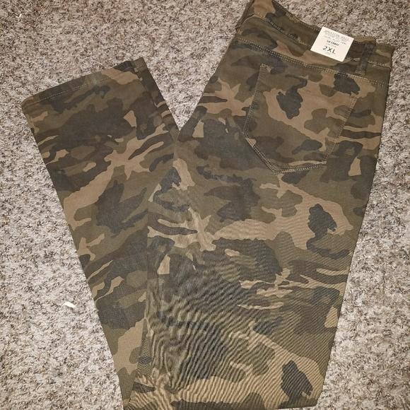 107413c9dc5 Olive CAMO skinny pants