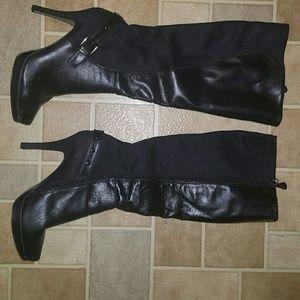 ShoeDazzle knee-high black boots