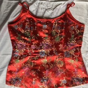 Vintage Chinese traditional print top