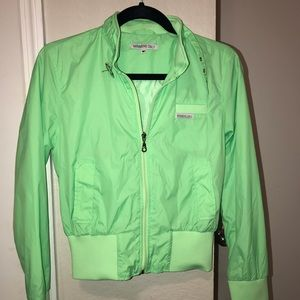 NWOT Members Only Lime Green Windbreaker! size M