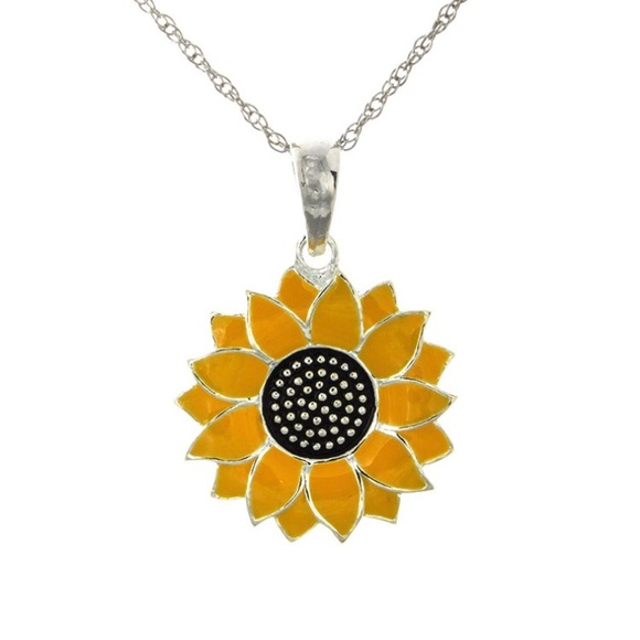 Million charms jewelry sterling silver sunflower pendant necklace m5a28cd26ea3f3654b701c98d aloadofball Gallery