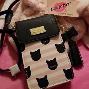 🎀🐱BETSEY JOHNSON  WALLET ON STRINGS 🐱🎀