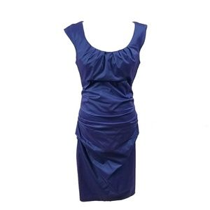 Royal Blue Dress Cocktail Party Sleeveless Mid 14