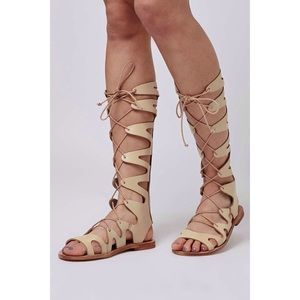 Topshop Leather Figtree Lace-Up Gladiator Sandals
