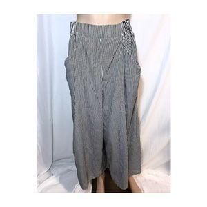 Zara white & black wide trousers pants