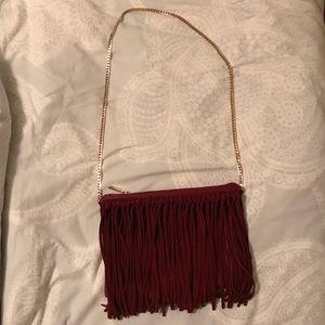 Garnet Fringe Bag