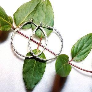 Jewelry - NEW 925 Silver Braided Hoop Women's Earring