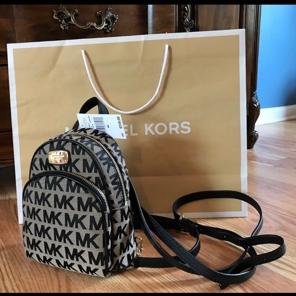 25fbe4d3a9dd New  248 Michael Kors ABBEY Backpack MK Handbag