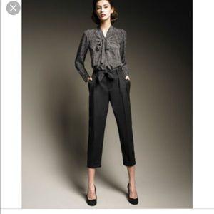 Kate Spade Sarah Tie Waist Dark Blue Cropped Pants