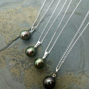 Jewelry - Tahitian pearl pendant necklace sterling silver
