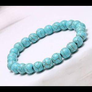 Natural Turquoise prayer beads bracelet