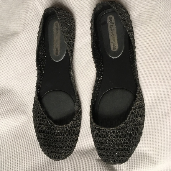 size 40 f4ff8 1cd98 Melissa + Campana Glitter Ballet Flats Size 8