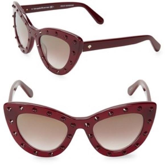 3c87398c3370 Kate Spade ♠️ Luann cat eye sunglasses (burgundy).  M_5a28e8c6a88e7d1883003194