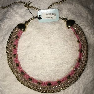 One of a kind pink and gold choker