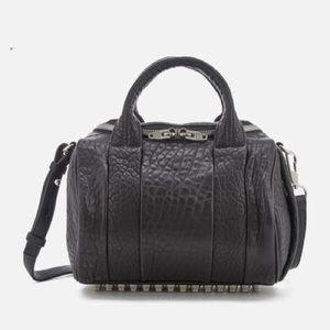 Alexander Wang Rockie Black Leather +  Nickel