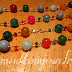 Jewelry - Multi color gemstones and Crystals handband