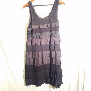 THEORY black ruffled tank dress, size Large