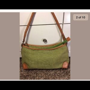 Fossil Bags - Vintage Fossil purse green braided leather strap 98d559e67a5e1