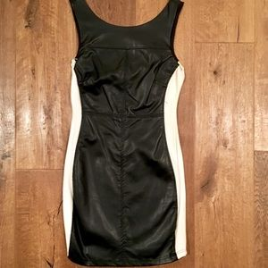 NWOT Sanctuary Vegan Leather and Ponte Dress