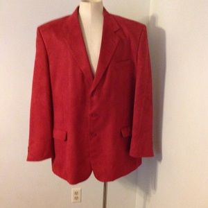 Other - Red Santa Christmas Sport Coat Jacket 50