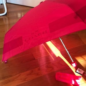 NWT Coach mini umbrella with bag