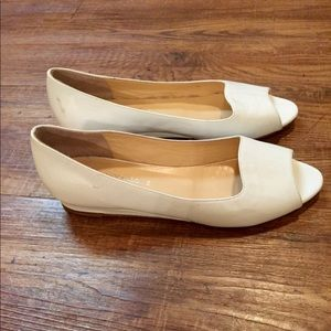Aquatalia open toe white flat slipper Retail $325