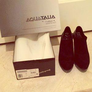 Aquatalia black booties-6.5