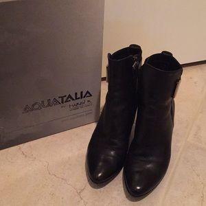 Aquatalia black leather booties-6.5