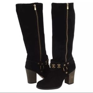 Chinese Laundry Backstreet Tall Black Suede Boots