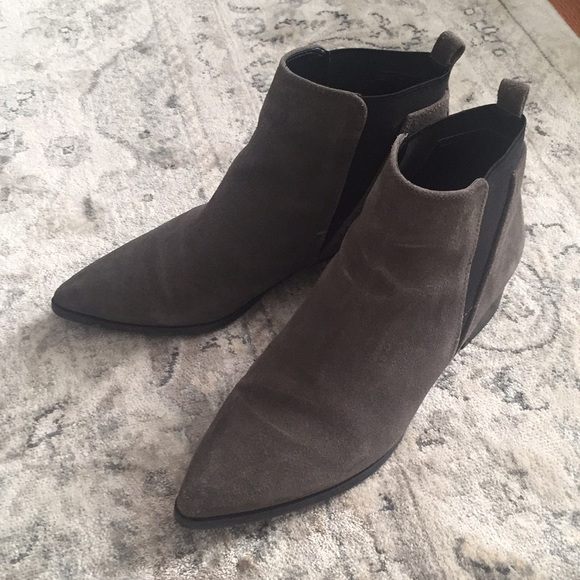 Grey Marc Fisher Yale Bootie