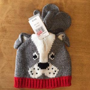 Carter's Dog Hat & Mittens - 12-24 months - NWT