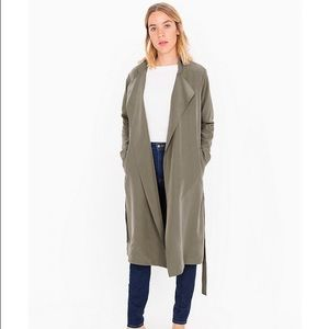 NWT American Apparel Faux Silk Lightweight Trench